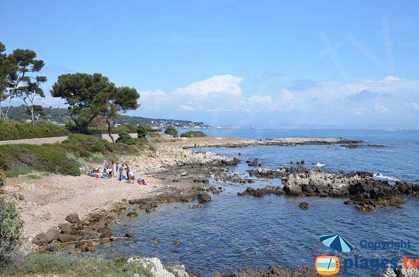 Beach near Cap Gros in Cap d'Antibes
