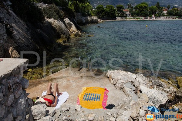 Bathing near the quarry of Saint Jean Cap Ferrat