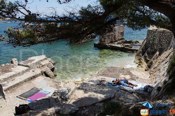 Beach near the old quarry of St Jean Cap Ferrat