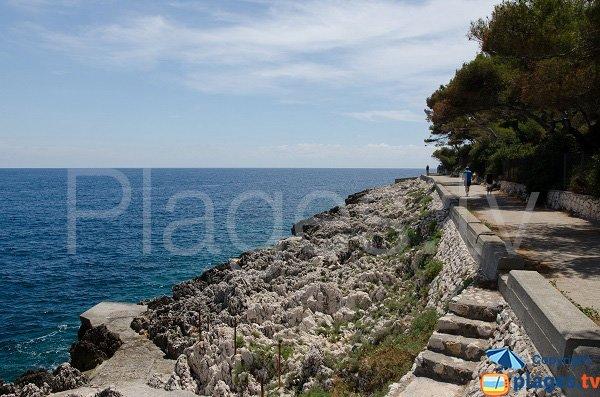Rocks and sea near the quarry of St Jean Cap Ferrat