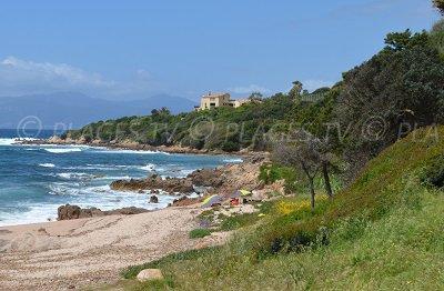 Cove of Coti Chiavari in Corsica