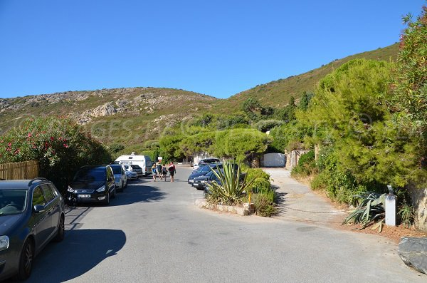 Car park for the Douane creek in Ramatuelle