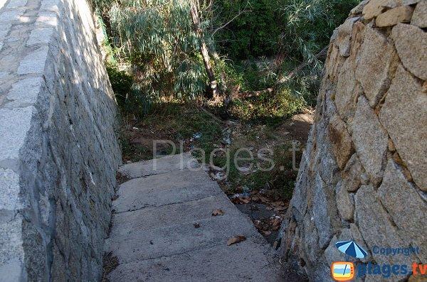 Accès à la crique de la Fontaine - Ajaccio