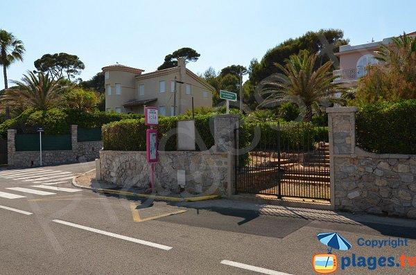 Landmark of Beach of Gardiole - Cap d'Antibes