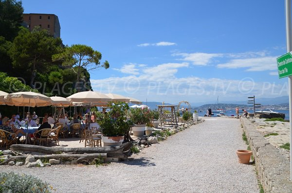 Restaurant of the Guérite on the islands of Lérins