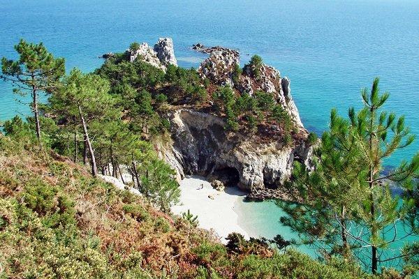 Photo de la crique de l'Ile Vierge à Crozon