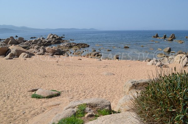 Sand cove at the Punta of Isolella - Corsica