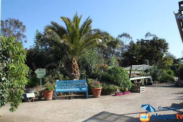 Access to the exotic garden cove of Roscoff