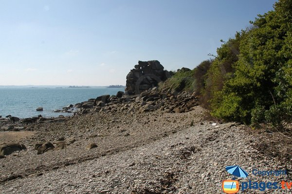 Stone cove near the Exotic garden of Roscoff