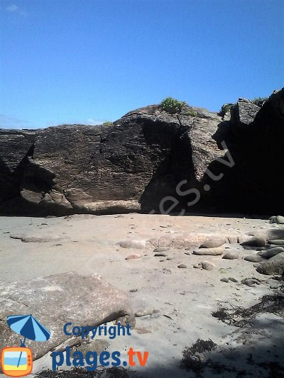 Sand cove near Grands Sables beach in Groix