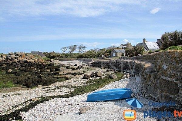 Photo de la crique de Mazou à Porspoder - Bretagne