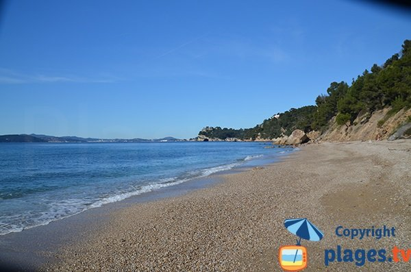 Cove next to Monaco beach in Le Pradet