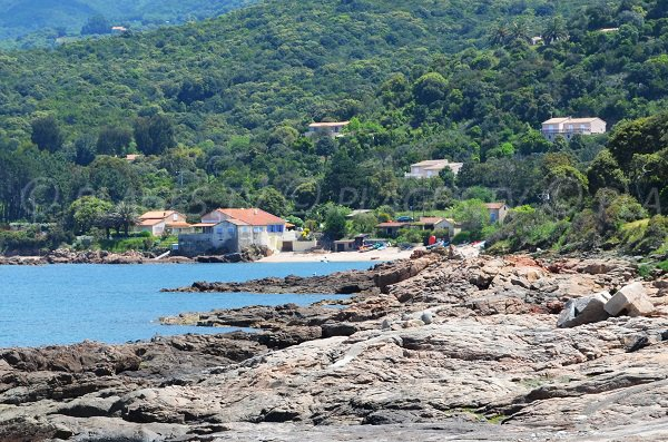 Overview of Orcino beach in Corsica