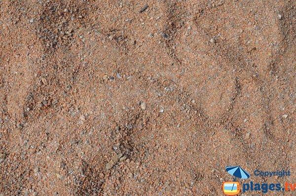 coarse sand of Isolella beach - Corsica
