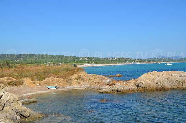 Photo of the creek and the beach of Pampelonne in France