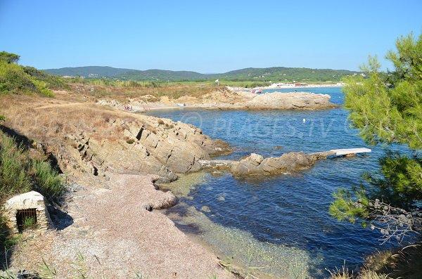 Creek between Bonne Terrasse and Pampelonne beaches in Ramatuelle