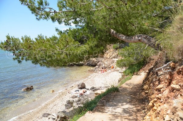 Confidential cove in La Londe les Maures in south of France