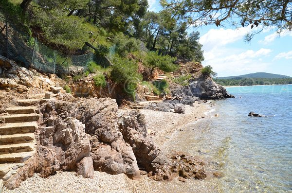 Cove and beach of Pellegrin in La Londe les Maures