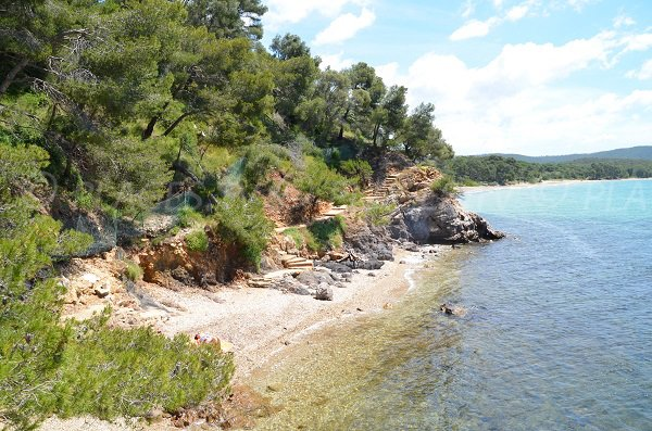 Pellegrin cove in La Londe les Maures in France