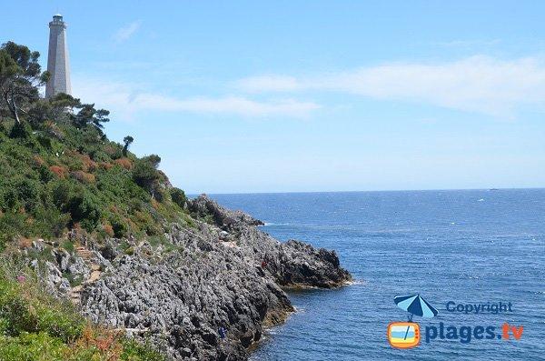 Photo de la plage du Phare de St Jean Cap Ferrat