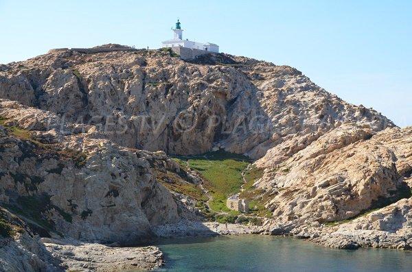 Crique sur la presqu'ile de Pietra à l'Ile Rousse