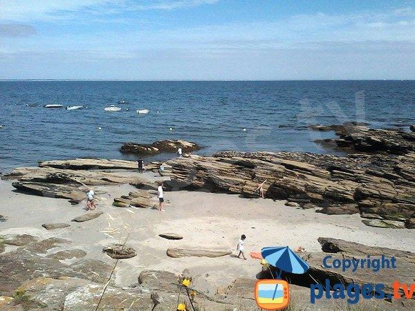 Photo des criques au niveau de la pointe des Chats sur l'ile de Groix