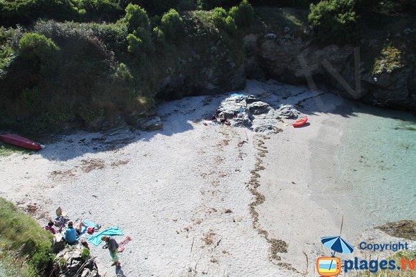Photo de la crique de Porh Penhoet à Belle Ile en Mer - Sauzon