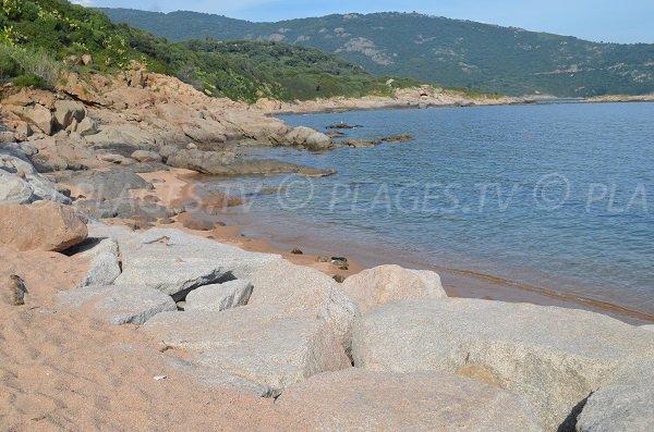 Beach next to the port of Cargèse