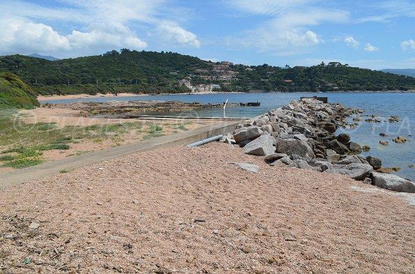 Vista sulle spiagge di Porticcio dalla zona di Pointe