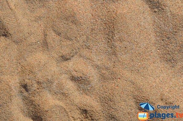 Sabbia della spiaggia di Dentis