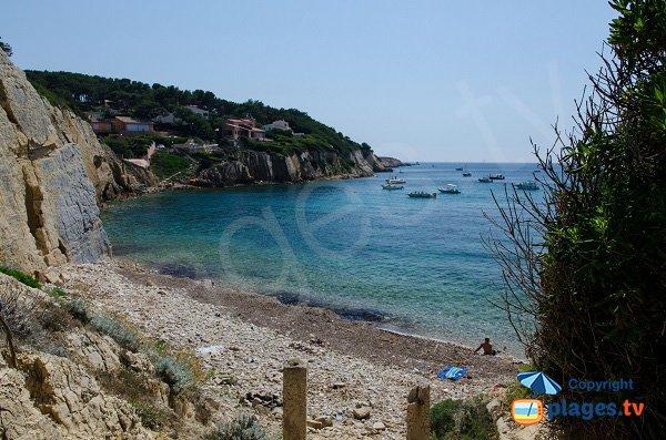 Photo de la crique de Roc Amour à Sanary sur Mer