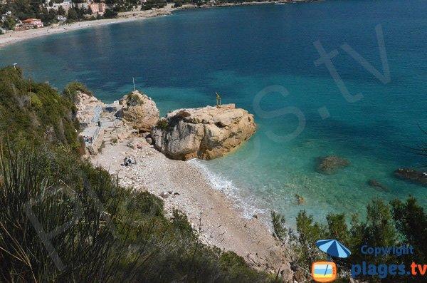 Photo de la crique du Rocher à Roquebrune Cap Martin