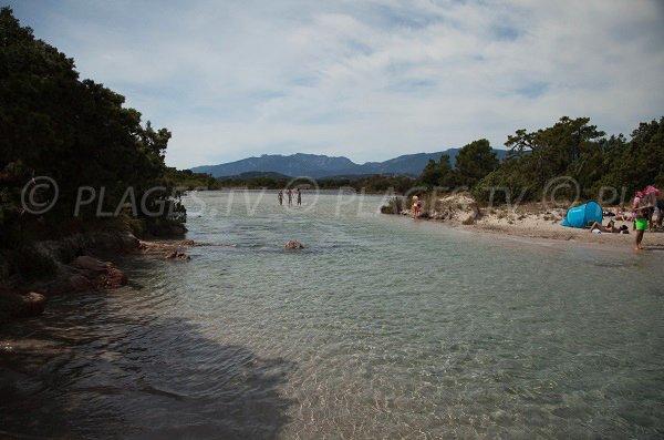 Accès à la crique de Saint Cyprien en Corse