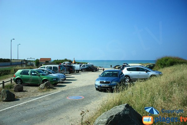 Parking of Sauzaie coves in France