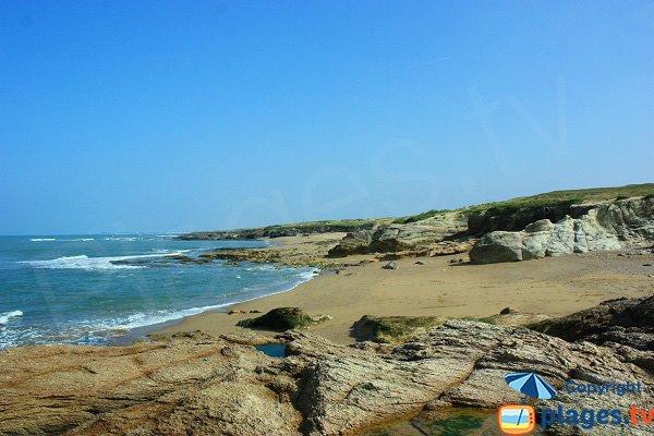 Photo de la crique de Sauzaie à Brétignolles sur Mer