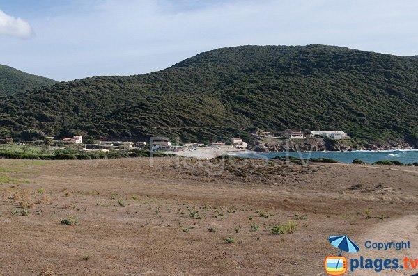 Vue de la plage de Sevani depuis la Crique - Ajaccio