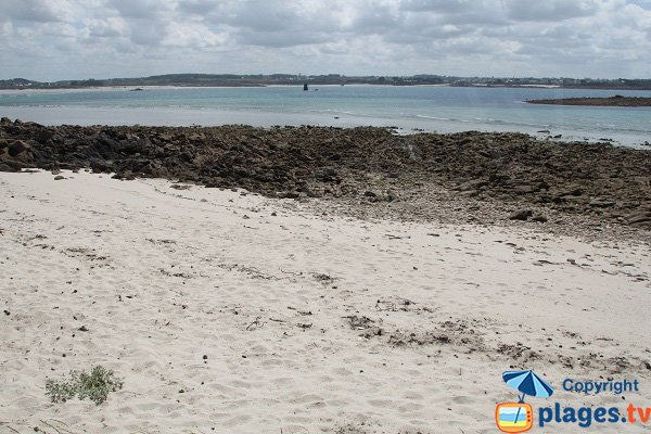 Sand Cove on the island of Siec - Brittany