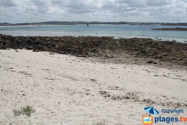Crique de sable sur l'ile de Siec - Bretagne