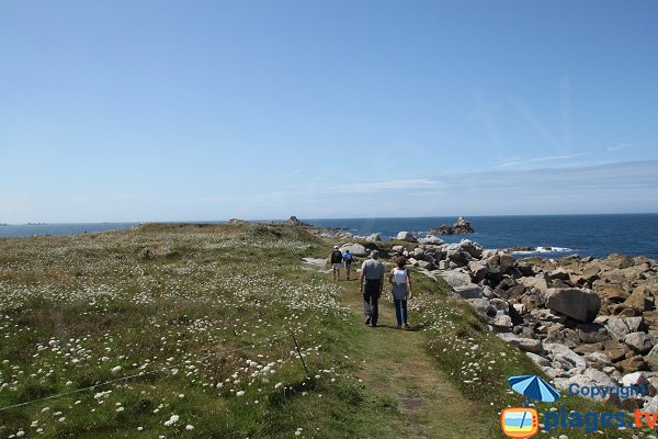 Trail around the island of Sieck - Brittany