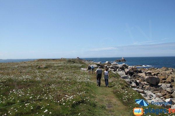 Sentier autour de l'ile de Sieck - Bretagne