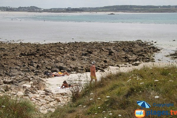 Photo of cove of Siec island in Santec - Brittany