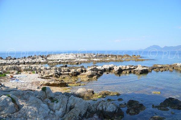 West beach on the St Honorat island