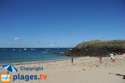 Beach in St Malo in France