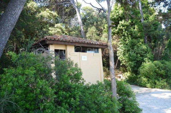Restrooms on the island of Saint Honorat