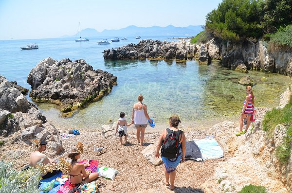 Confidential cove in Saint Honorat island - France
