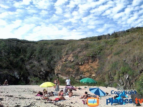 Cliffs around Stank cove - island of Groix