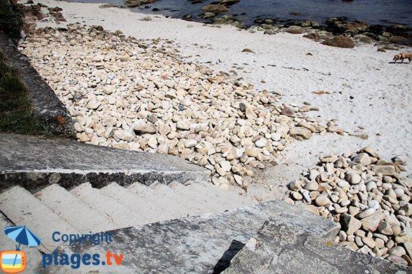 Accès à la crique de Vanneresse à La Trinité sur Mer