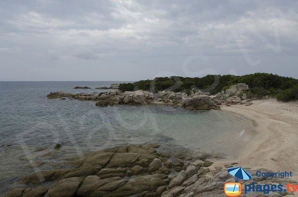 Petite crique de sable proche de la pointe de Ventilegne - Figari