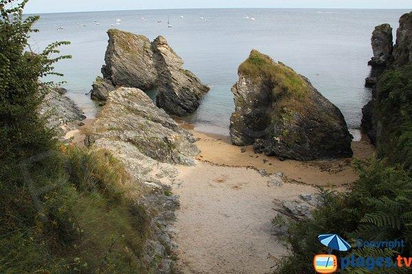 Photo de la crique Victoria à Belle Ile en Mer