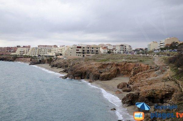 Photo des criques de la Nau à Sète